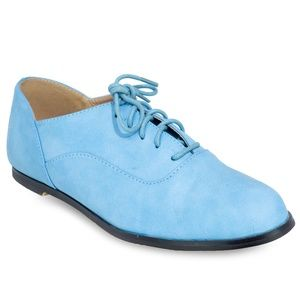 Women's Flat Heel Pointed Toe Lace Up Oxford